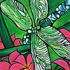 Dragonfly In Pink by David Bell