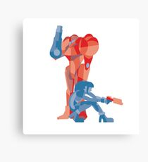 Samus and Power Suit Canvas Print
