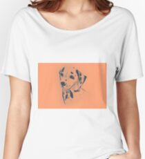 Drawing of dalmatian dog. Illustration Women's Relaxed Fit T-Shirt