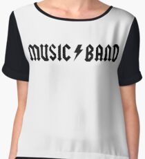 "Music Band – Buscemi, ""how do you do, fellow kids?"" Chiffon Top"