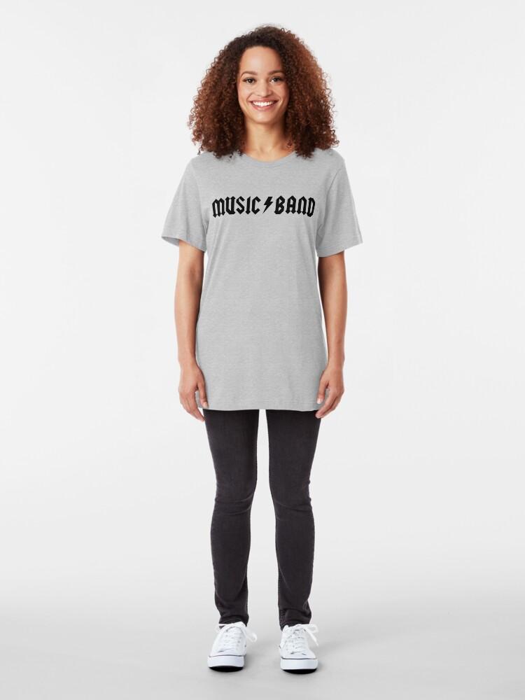 """Alternative Ansicht von Musikkapelle - Buscemi, """"wie geht es dir, Mitschüler?"""" Slim Fit T-Shirt"""