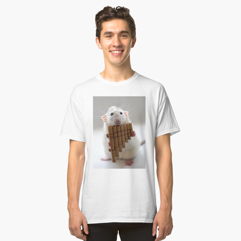 Playing the panflute. Classic T-Shirt