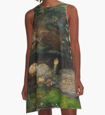 John Everett Millais - Ophelia.  A-Line Dress