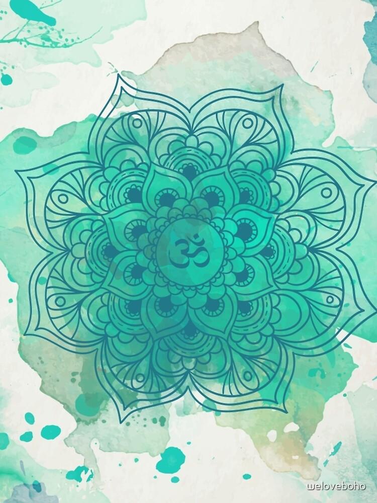 Green Mandala watercolor  de weloveboho