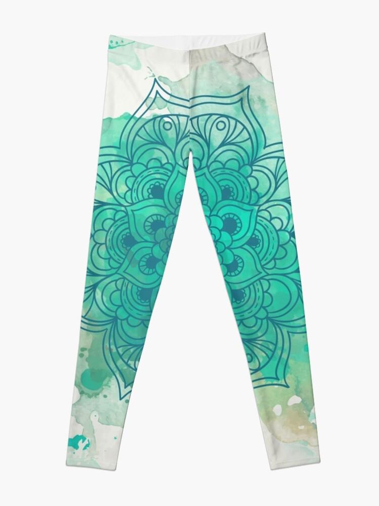 Vista alternativa de Leggings Green Mandala watercolor