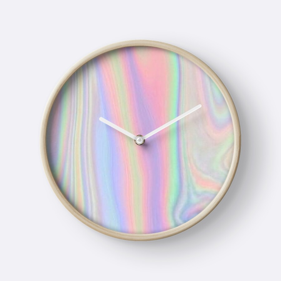 Amazing Cute Holographic Tumblr Print Clocks By