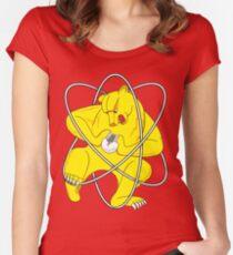 Bear Splitting Atom Women's Fitted Scoop T-Shirt