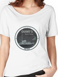 Quint's Shark Fishing, Amity Island Women's Relaxed Fit T-Shirt