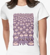 Sloth-tastic! Womens Fitted T-Shirt