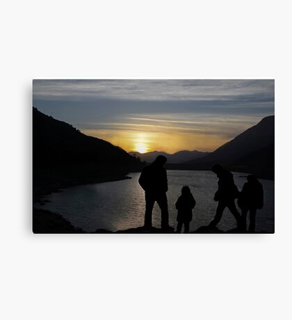 Silhouettes At Sunset  Canvas Print
