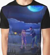 Man Punches Kangaroo Graphic T-Shirt