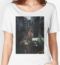 Hong Kong Noir, Market Women's Relaxed Fit T-Shirt