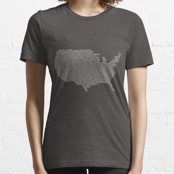America Constitution Shape Map Essential T-Shirt