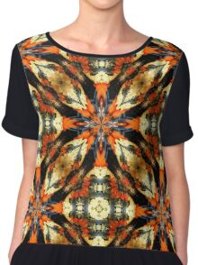 Colorful Gourds Abstract Design Women's Chiffon Top