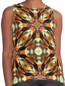 Colorful Gourds Abstract Design Contrast Tank