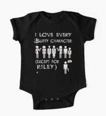 I love every Buffy character except for Riley One Piece - Short Sleeve