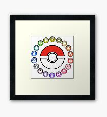 Pokemon Type Wheel v2 Framed Print