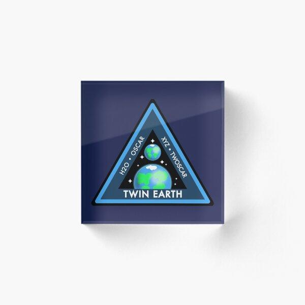 Twin Earth Acrylic Block