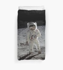 Buzz Aldrin on the moon | Space Duvet Cover