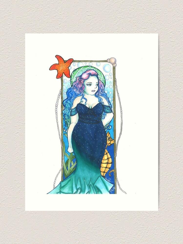 Alternate view of Art Nouveau Mermaid Art Print