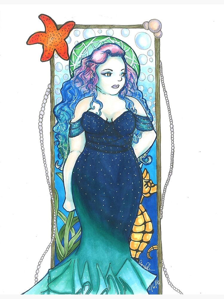 Art Nouveau Mermaid by armcklveen