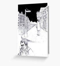 Graphic novel page Greeting Card
