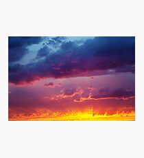 Fantastic Dramatic Sunset Sky  Photographic Print