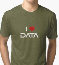 I Love Data Tri-blend T-Shirt