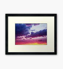 Fantastic Dramatic Sunset Sky  Framed Print