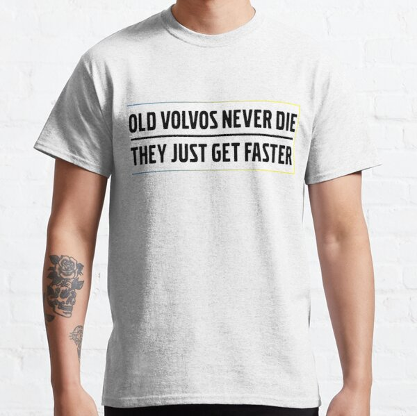 Old Volvos Never Die They Just Get Faster Turbo Brick  Classic T-Shirt