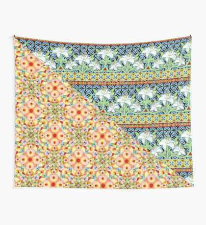 Tangerine Confetti Lilies Wall Tapestry