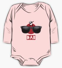 DAB PANDA dab on em dabber dance football touch down red One Piece - Long Sleeve