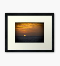 Sunrise at dawn golden sky Framed Print