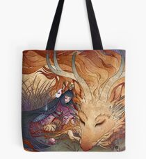 Slumber - Kitsune Fox Dragon Tote Bag