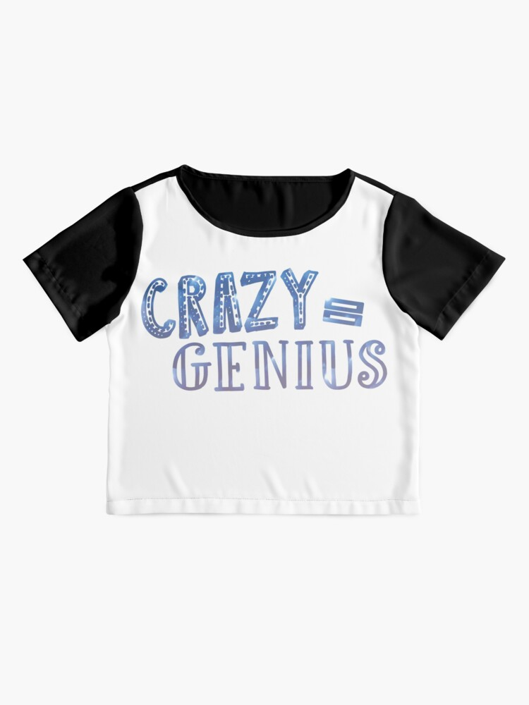 Alternative Ansicht von Crazy entspricht Genie Chiffon Top