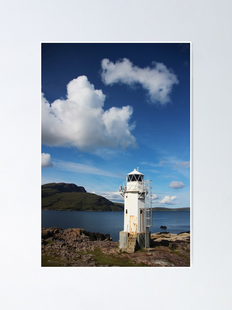 Alternate view of Rhue Lighthouse Poster