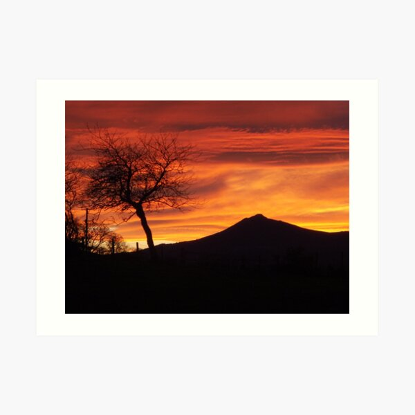 Bennachie sunset Art Print