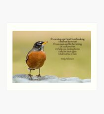 Emily Dickinsons Robin Kunstdruck