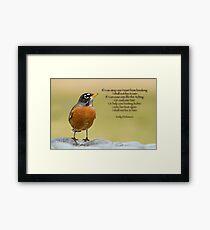 Emily Dickinson's Robin Framed Print