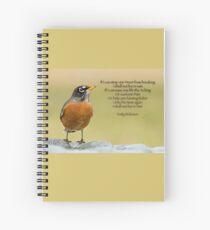 Cuaderno de espiral Robin de Emily Dickinson