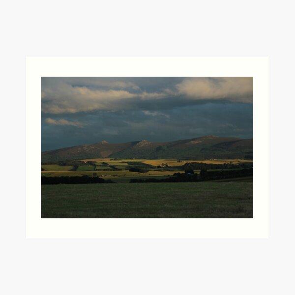 Bennachie view Art Print