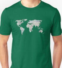 Newspaper World Map Unisex T-Shirt