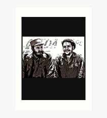Fidel Castro and Che Guevara Art Print