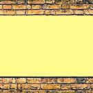 Brick wall with a billboard by gianliguori