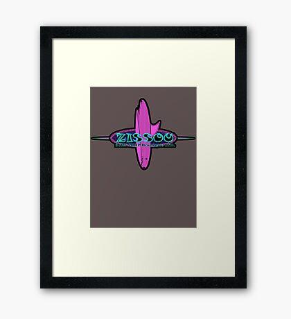 Surf shop LTD. (for colour shirts) Framed Print