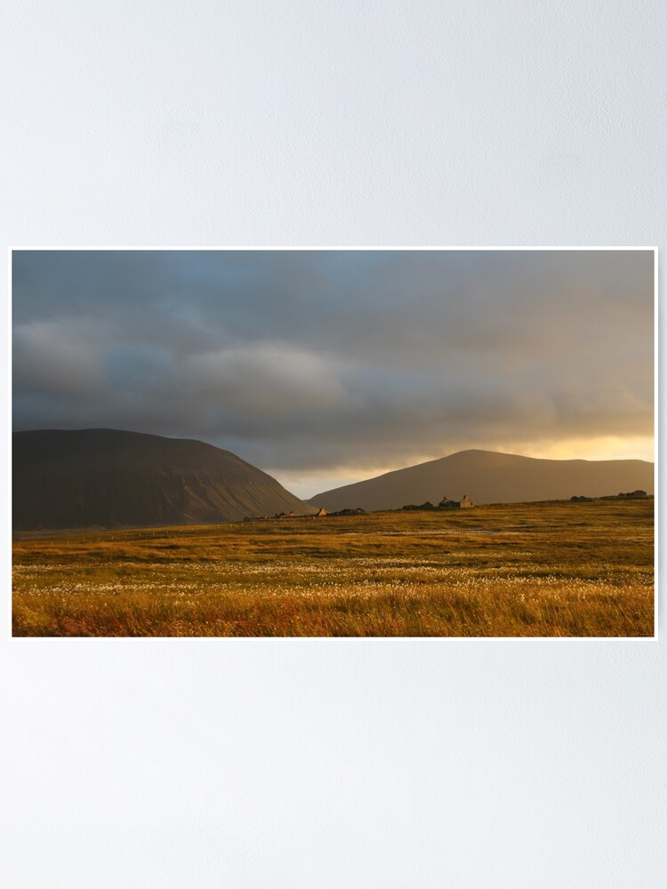 Alternate view of Evening light on Hoy and Graemsay Poster