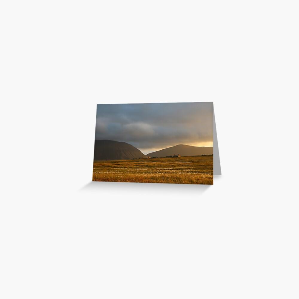 Evening light on Hoy and Graemsay Greeting Card