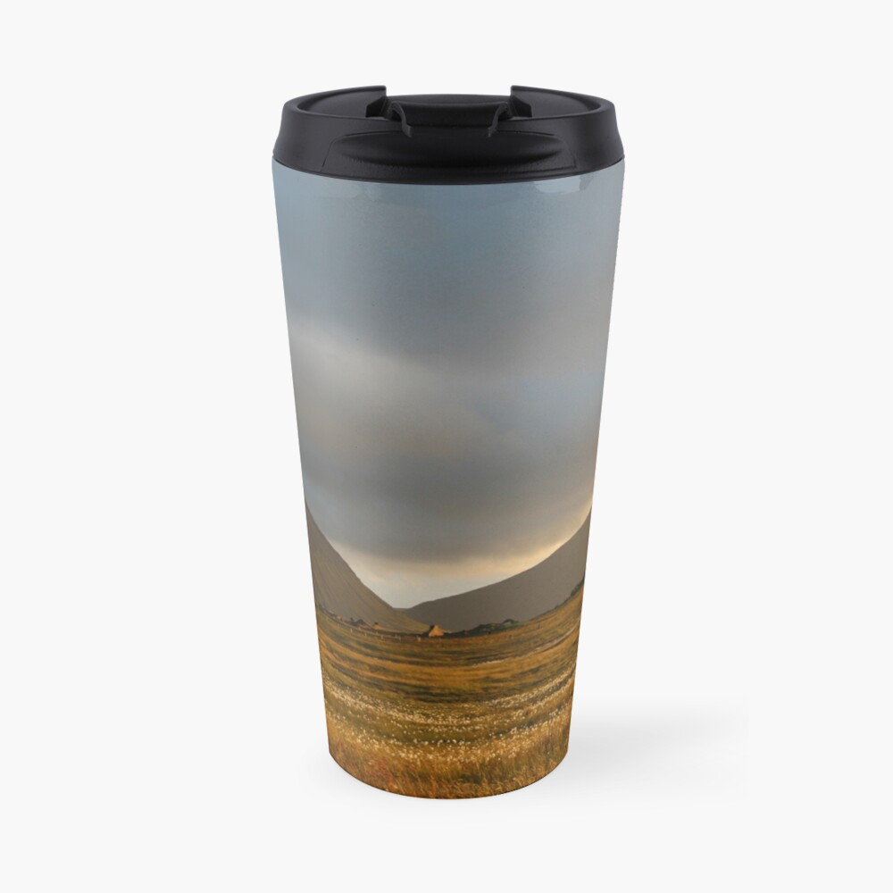 Evening light on Hoy and Graemsay Travel Mug