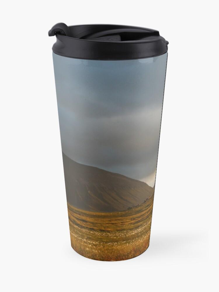 Alternate view of Evening light on Hoy and Graemsay Travel Mug