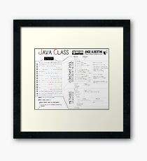 a Java class (compact hello world) Framed Print